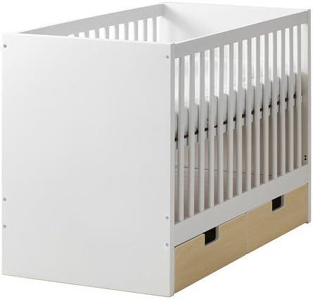 IKEA cuna con cajones, abedul, 27 1/2 x 52