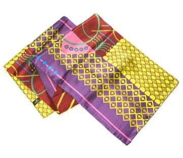 Geometrics in Purple - Pangborn Design Scarf 11016 - Pangborn Design Scarf