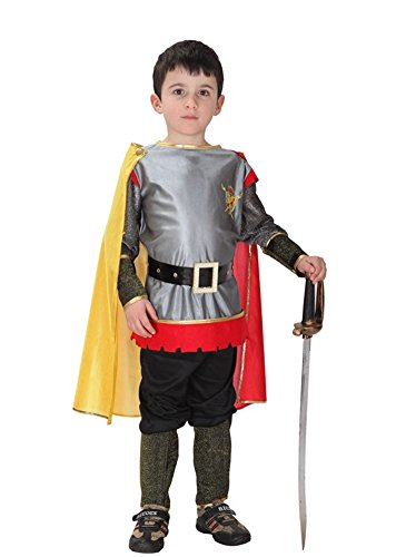 Medieval Outfit (Kalanman Children Boys Halloween Dress Up & Role Play Costume Medieval Prince King Warrior Outfit (M(Fit for 4-6 Age), King Warrior 72))