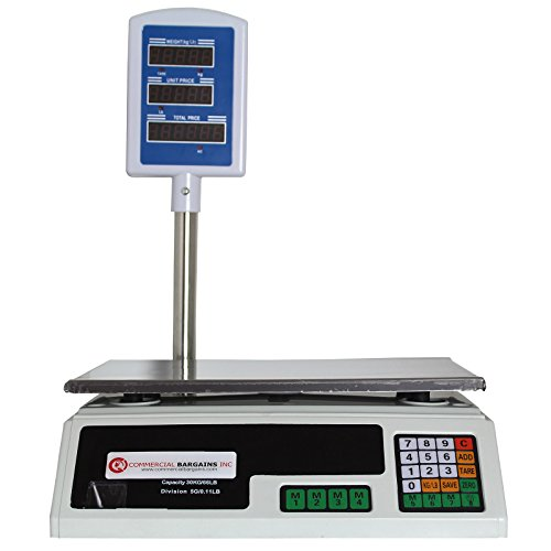 Scale Food Price Digital Computing Produce Meat Deli Weight Counting 60LB ACS-30 (Best Grocery Store Deli Meat)