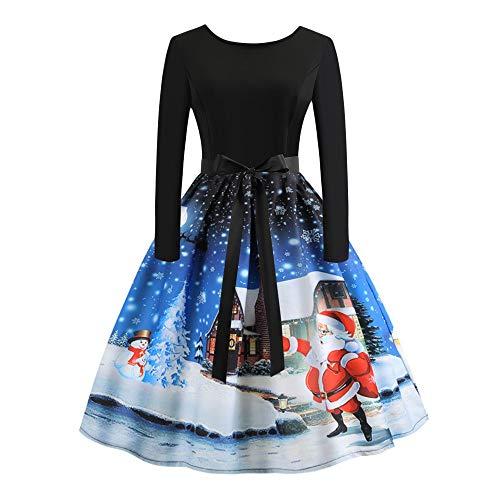 women s vintage dress santa claus print