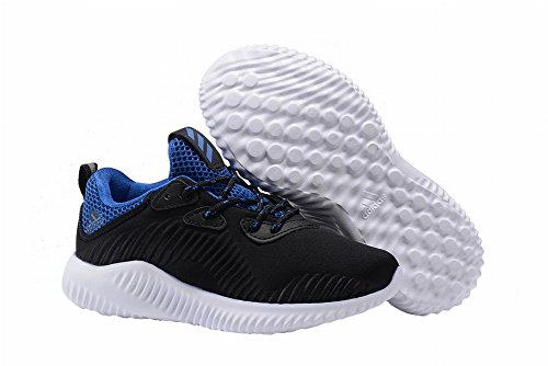 Edad Kid Yeezy Unisex edad Kid Casual Fashion zapatillas transpirable deportes atléticos zapatos, Niños, negro y azul, 11C=18CM