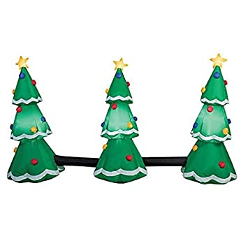 Image Unavailable. Image not available for. Color: Gemmy Industries 3-Tree  Light Show Christmas ... - Amazon.com: Gemmy Industries 3-Tree Light Show Christmas Inflatable