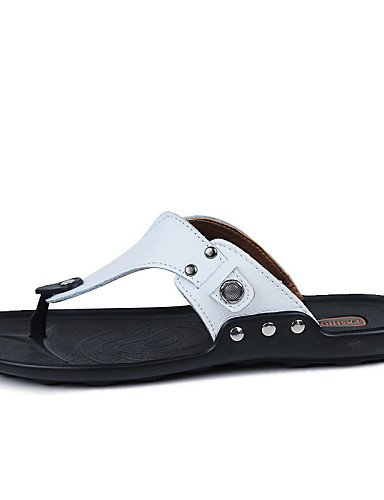 NTX/ Men's Shoes Outdoor / Casual Leather Flip-Flops Black / Yellow / White / Orange orange-us6-6.5 / eu38 / uk5-5.5 / cn38 kbYi8OKpfz