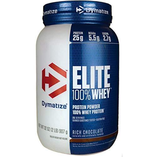 Dymatize Nutrition Elite Whey Protein Powder, Rich Chocolate, 2  Pound