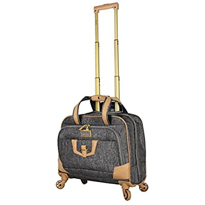 Nicole Miller New York Taylor Carry On Spinner Briefcase new