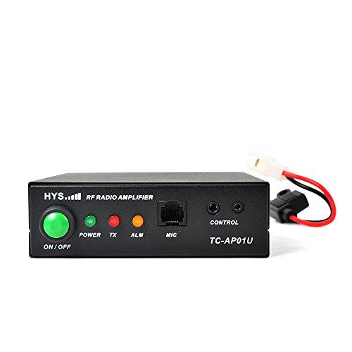 HYS UHF 400-470MHz Ham Two Way Radio Power Amplifier 30W RF Radio Amplifier for Icom/Kenwood/Baofeng BF-888s/ Retevis H-777/ Motorola Digital/ Analog RF Walkie Talkie