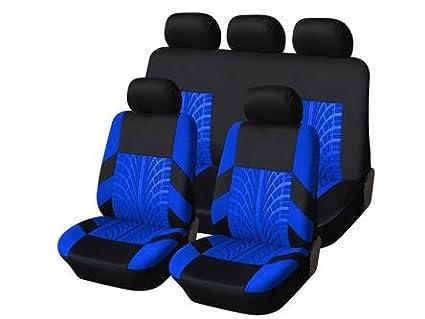 Mr E Saver TOYOTA HILUX INVINCIBLE Premium Blue /& Black Trax Seat Cover Set
