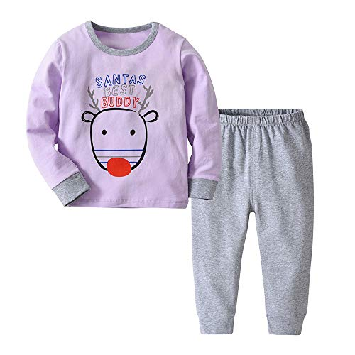 Baby Boys Clothes 0-3 Months,Christmas Deer Baby Toddler Girls Boy Tops Solid Pants 2Pcs Set Outfit Clothes,Classic Halloween,Purple,90