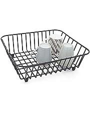 simplywire - Cesta para fregadero (revestimiento de polietileno), color negro