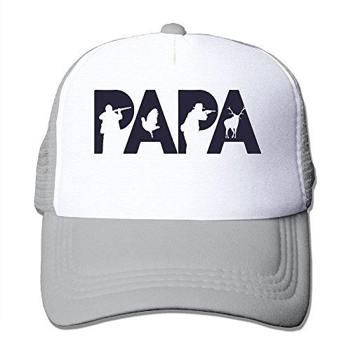 Funny Papa Hunting Adult's Baseball Cap Mesh Adjustable Trucker Hat for Men Women