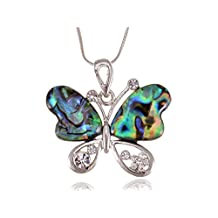 Alilang Dark Bohemian Amethyst Stone Slice Flower Petal Swarovski Crystal Crest Necklace