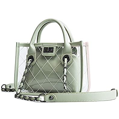 Amazon.com: Fashion bags for women PVC leather Shoulder bags ...