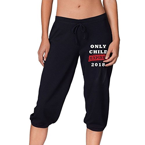 Spring Young Only Child Expires 2018 Womens Skiing Active Yoga Lounge Workout Fleece Warm Sweatpants With Pockets Black S