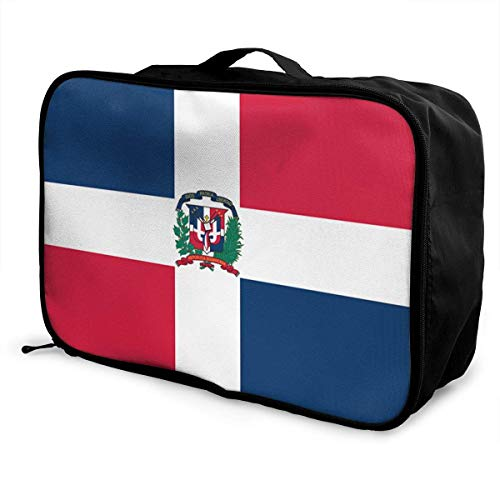 Jack772f728ii Portable Travel Duffel Bag Dominican Republic Flag Packable Lightweight Carry-on Luggage Expansion