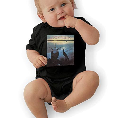 (Lovebbag Avalon Roxy Music Baby Jersey Jumpsuit Bodysuits Black 2T)
