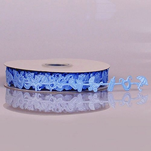 Baby Boy Blue Decorative Ribbon - 25 Yards 16MM (1/2in. Wide)