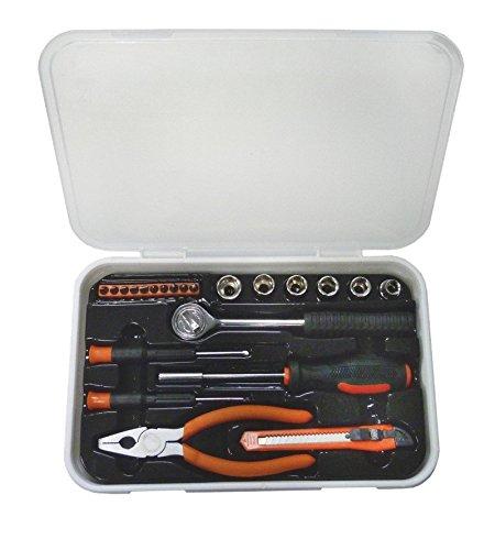 Casals ASB22 - Set herramientas 22 piezas (puntas de atornillar, llaves de vaso/de carraca, destornilladores de precisión, destornillador para puntas ...