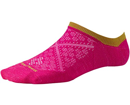 Smartwool Women's PhD Run Ultra Light No Show Socks (Bright Pink) Medium (Smartwool Run Socks)