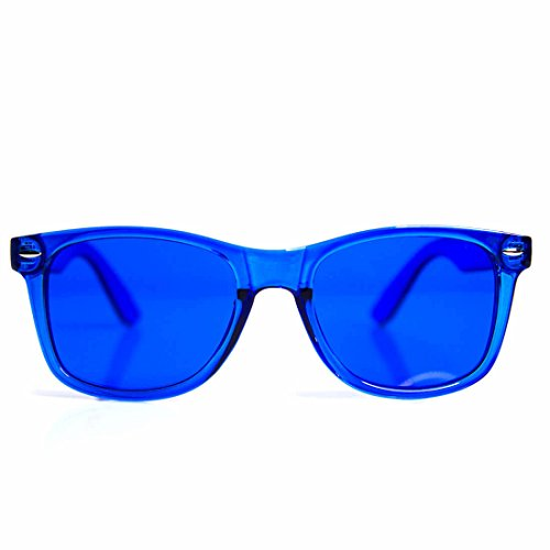 GloFX Blue Color Therapy Glasses Chakra Glasses Relax - Lens Color Blue