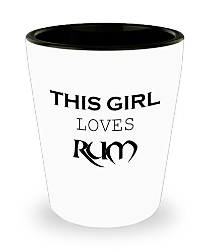 Shot Glasses for Women, Birthday Shot Glasses For Women - This Girl Loves Rum Ideal Gift For Women