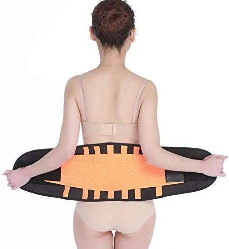 巧妙な背部サポートベルト、高弾性繊維の腰ブレース生地、通気性/快適、背部緩和用のスポーツベルト、脊柱側弯症または椎間板ヘルニア、オレンジS