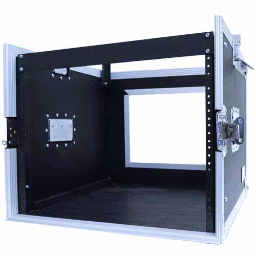 Seismic Audio - SAMRC-8U - 8 Space Rack Case with Slant Mixer Top - PA/DJ Pro Audio Road Case by Seismic Audio (Image #3)