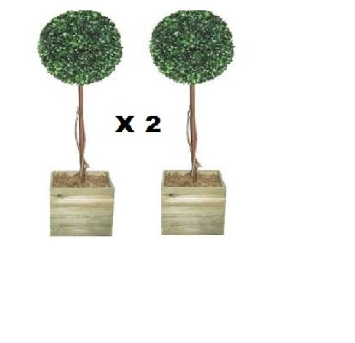 2 X Artificial Trees - 3ft Topiary Ball trees Topiary trees Faux tree