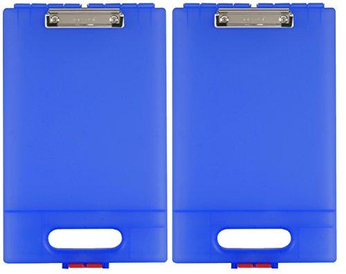 Dexas 1717-27282PK Office Clipcase Storage Clipboard, Set of Two, Royal Blue, 2 Piece ()