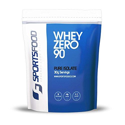 Deportes alimentos cero proteína 90 aislamiento (Triple Chocolate, 1/2 Lbs) 90% proteína, cero grasa y 0,5 g carbohidratos, BCAA agregado