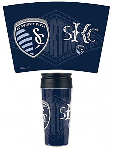 Kansas Slide (MLS Sporting Kansas City FC Travel Mug, 16 ounce, slide top)