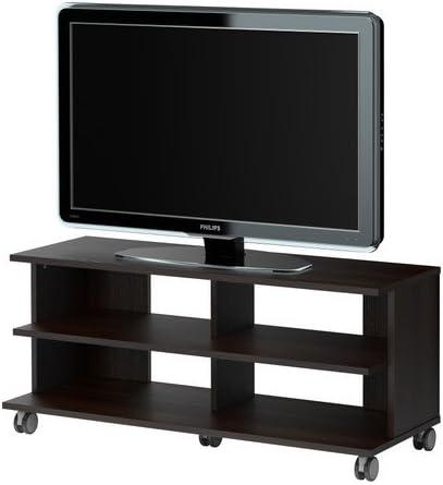 IKEA BENNO - Mueble TV con ruedas, negro-marrón - 118x42x51 cm ...