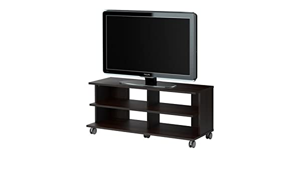 Amazoncom Benno Tv Unit With Casters Black Brown Kitchen Dining