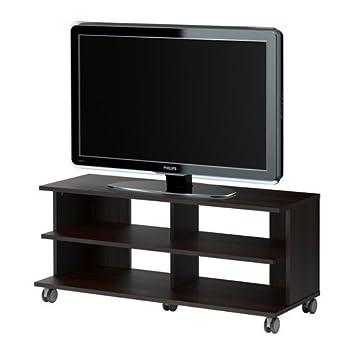 IKEA BENNO - Mueble TV con ruedas, negro-marrón - 118x42x51 cm: Amazon.es: Hogar
