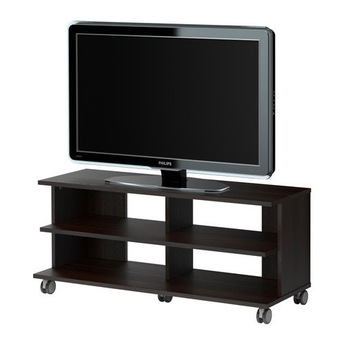 Amazon Com Benno Tv Unit With Casters Black Brown Kitchen Dining