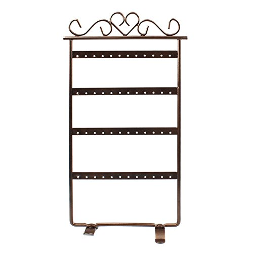 48 Hole Brown Earrings Jewelry Display Wall Mounted Frame...