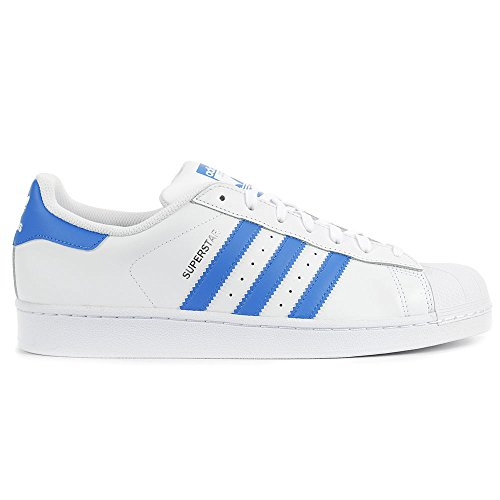 Adidas Heren Superster Mode Sneaker (11, Wit / Ray Blauw)