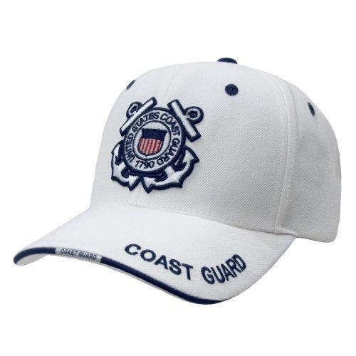 Rapid Dominance US Coast Guard Baseball Ball Cap Hat(White, One Size)