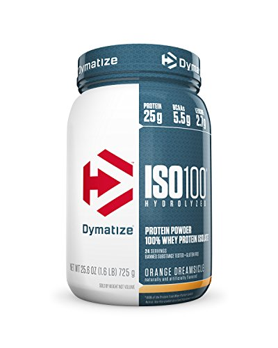 Dymatize ISO 100 Whey Protein Powder Isolate, Orange Dreamsicle, 1.6 lbs