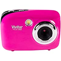 Vivitar ViviCam 8025 - Digital camera - compact - 8.1 Mpix - supported memory: SD, SDHC - red At A Glance Review Image