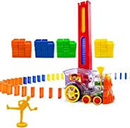 Domino Train,Domino Electric Building Block Set Building and Stacking Train Model Toys Four Colors Suitable fo