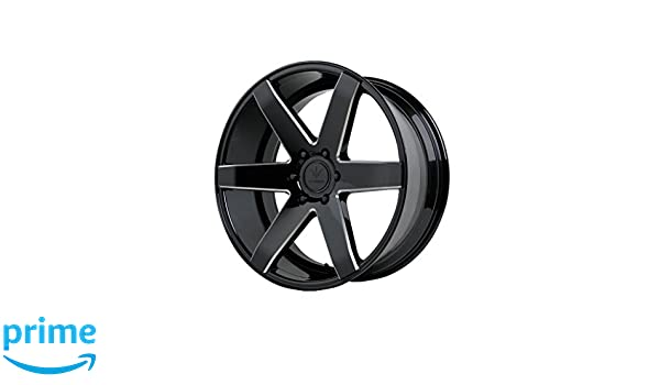 22 x 9.5 inches //6 x 5 inches, 31 mm Offset Verde Custom Wheels V24 Invictus Matte Graphite Wheel with Painted