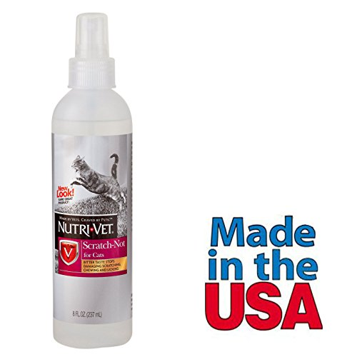 Cat Anti Scratch Spray Deterrent 8 Oz Bitter Taste for Stop Scratching on Furniture Made in USA