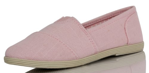 Soda Kid's Object Canvas Slip On Flat Shoes Object, pink, 13 (Pink Soda Shoes compare prices)