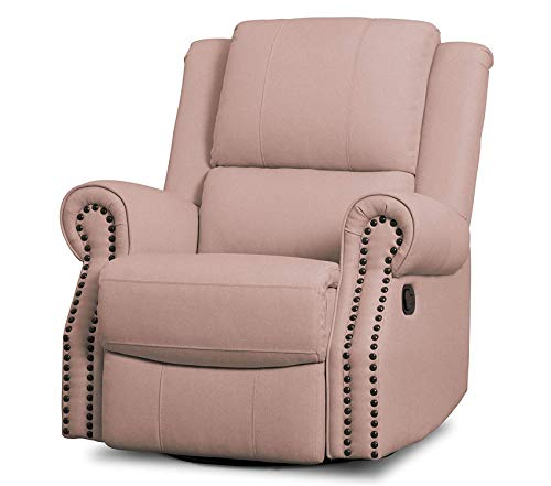 Dеltа Childrеn Deluxe Premium Collection Dylan Nursery Recliner Glider Swivel Chair Blush Decor Comfy Living Furniture ()