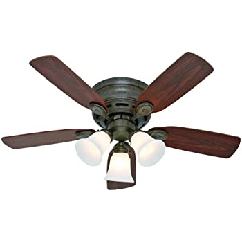 Hunter H23849 Low Profile Iii Plus 42 Quot Provencal Gold Ceiling Fan With Light Amazon Com