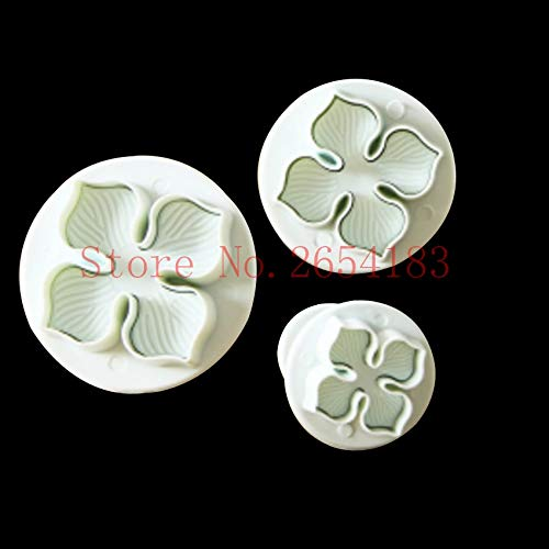 1 piece 3PCS Leaf shape Plastic Plunger Cutter Fondant Cake Mold Cupcake Cookie Pastry Chocolate Biscuit Decoration Baking Tool FQ2020