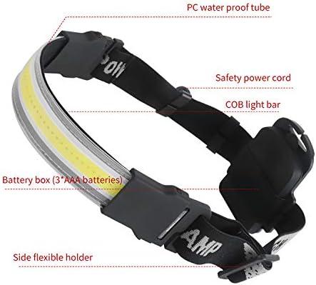 Randonn/ée 3 Modes d/'Eclairage IPX4 /Étanche pour P/êche Lumiere Frontale Puissante avec 210/° /Éclairage 500LM Camping Cyclisme Lecture LUXJUMPER Lampe Frontale LED COB USB Rechargeable