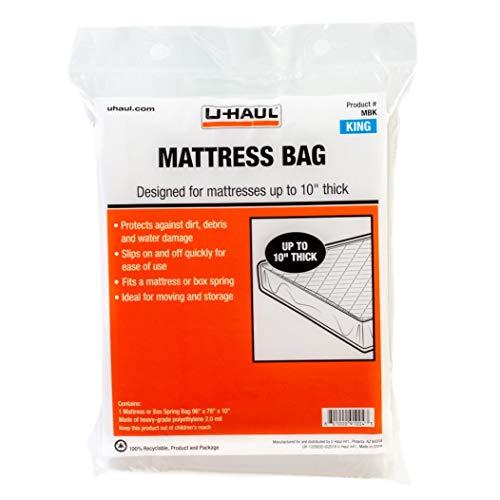 "U-Haul Standard King Mattress Bag - Moving & Storage Cover for Mattress or Box Spring - 96"" x 78"" x 10"""