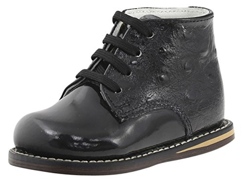 Josmo Infants/Toddlers 8190 Boot,Black Patent Ostrich,US 8 M]()
